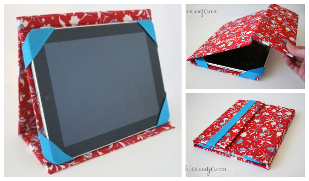 Cool iPad Cover Stand Case Free Sewing Pattern