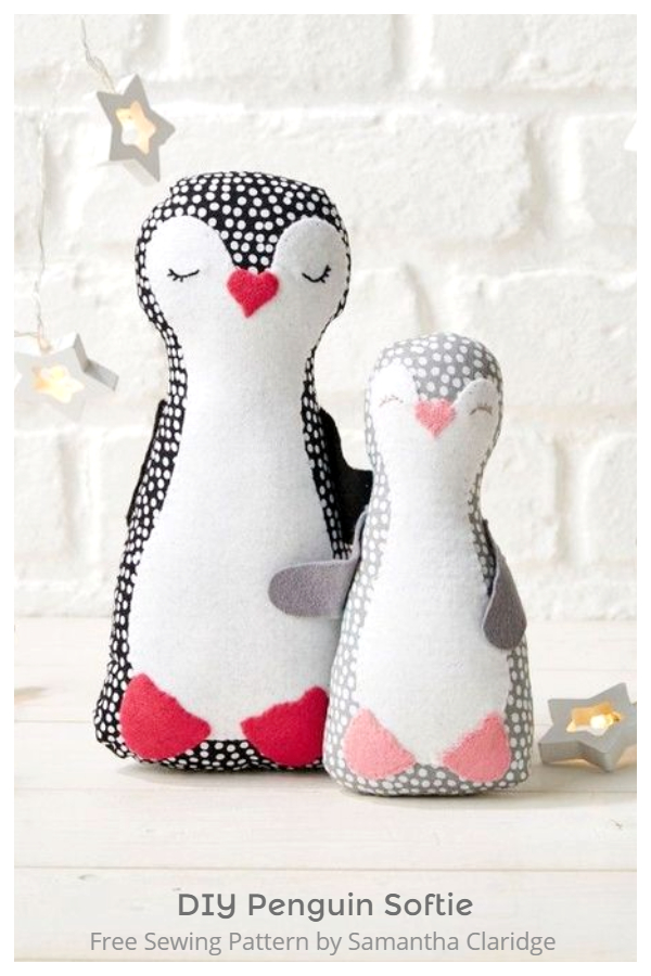 DIY Stuffed Penguin Toy Free Sew Pattern & Tutorial