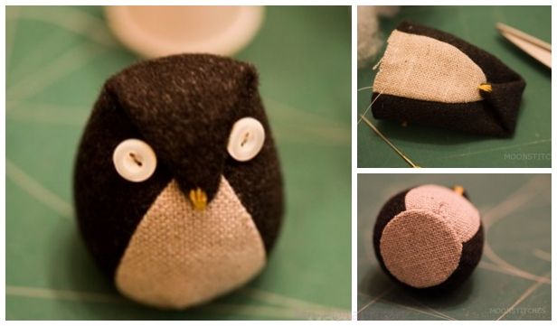 DIY Fabric Softy Kawaii Owl Free Sew Pattern & Tutorial