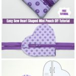 Easy Sew Heart Shaped Mini Pouch DIY Tutorial