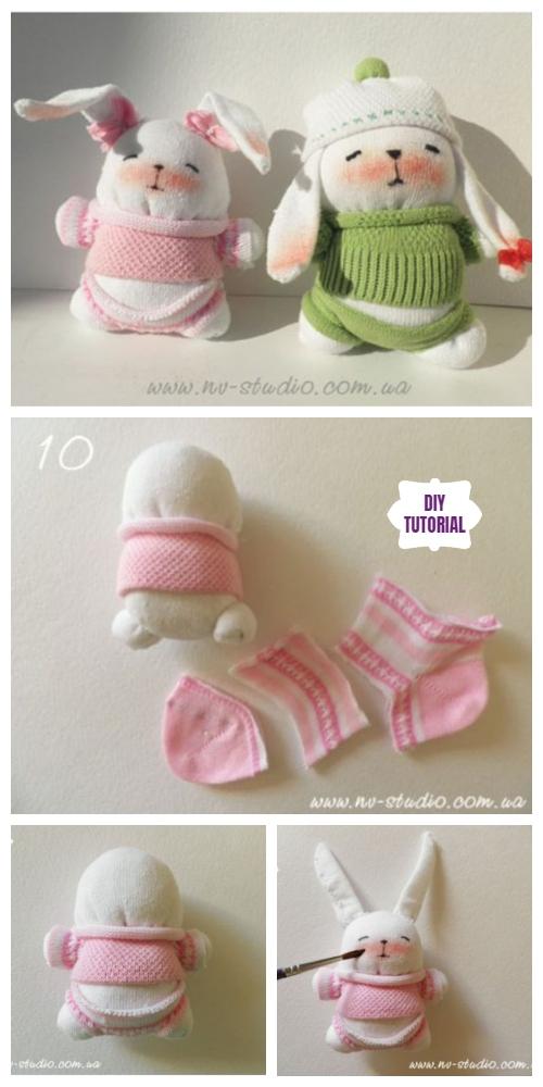 Sock Bunny Couple DIY Tutorial