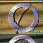 CD into curtain knot tutorial