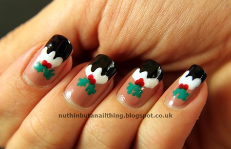 DIY christmas nail art31