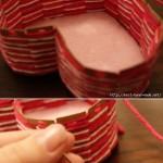 Yarn heart basket tutorial