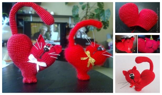 Crochet Valentine Cat Amigurumi Free Pattern