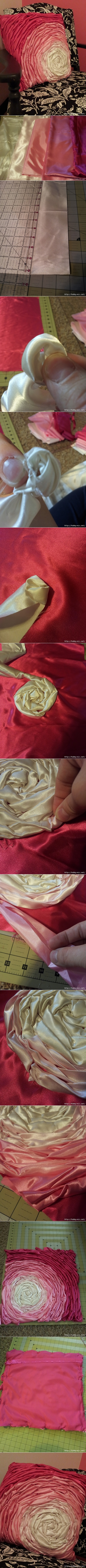 satin cushion tutorial