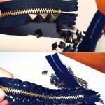 zipper bracelet tutorial-1st