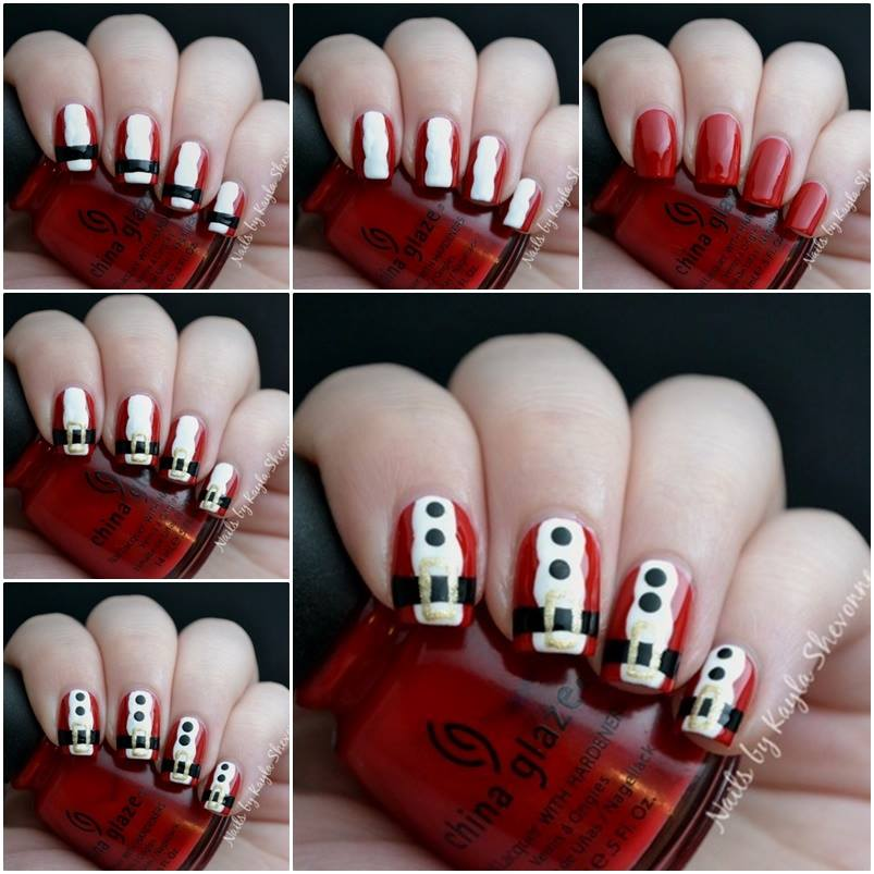 DIY christmas nail art1