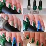 Easy Christmas Tree Nail Art 2