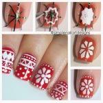 holiday snowflake Nail Art