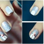 snowman nail art tutorial