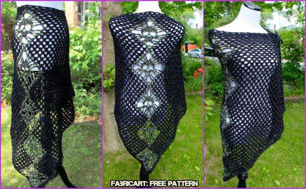 Crochet Skull Shawl Free Pattern & Video