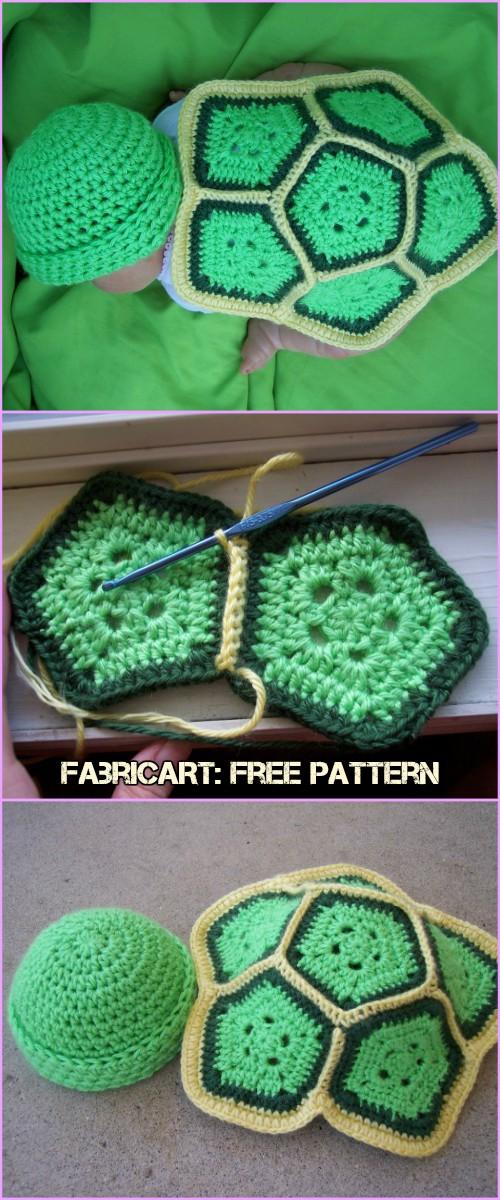 Crochet Turtle Love Baby Photo Prop Free Pattern
