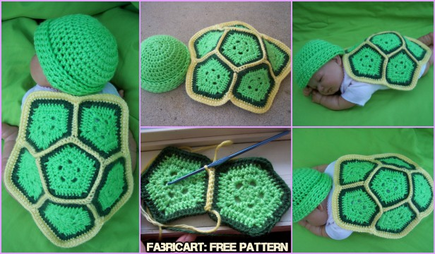 Crochet Turtle Love Baby Photo Prop Free Pattern