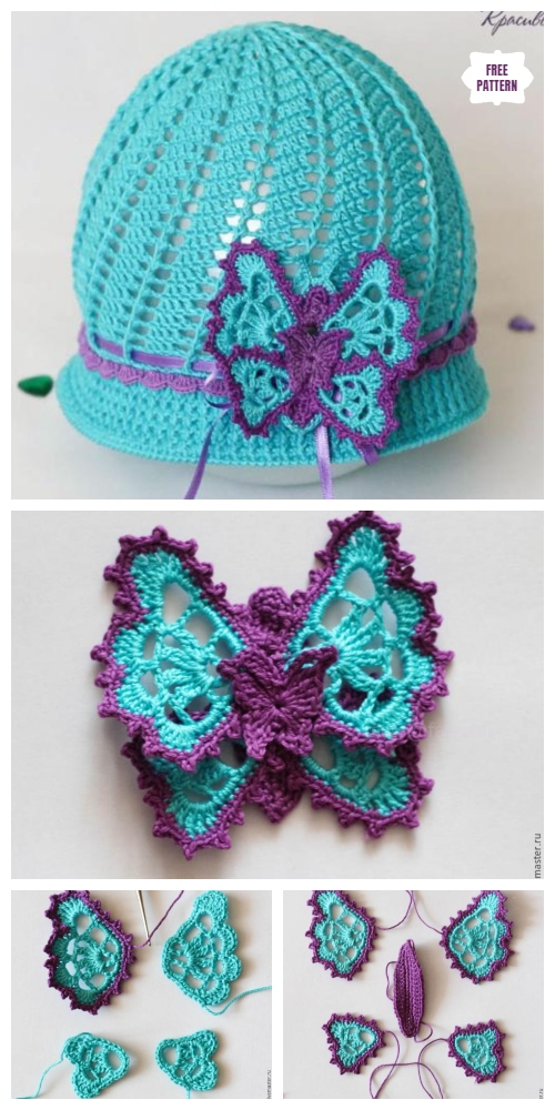 Crochet Butterfly Applique Free Crochet Pattern