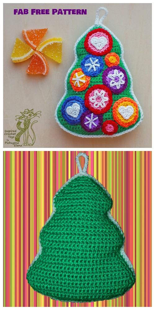 Crochet Candy Christmas Tree Free Pattern