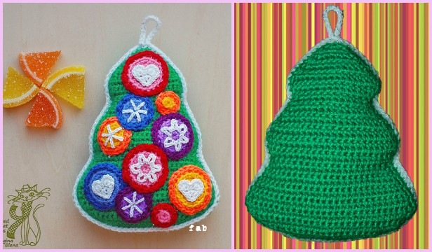 Crochet Candy Christmas Tree Free Pattern