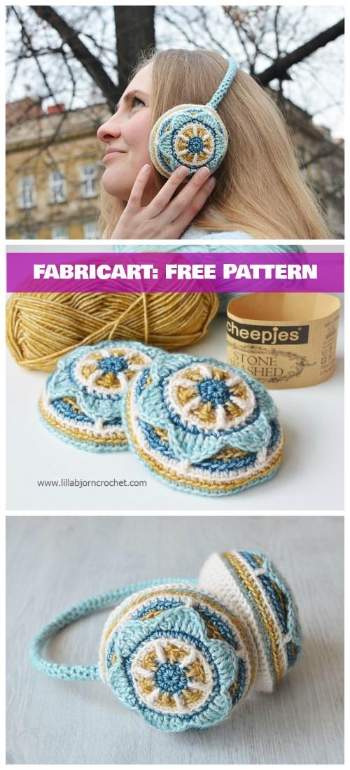 Crochet Floral Ear Muffs Free Pattern