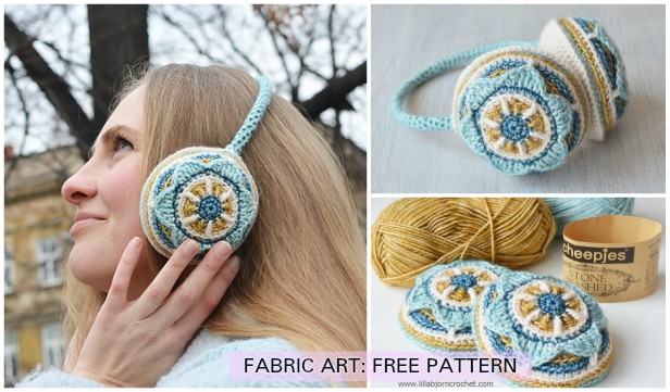 Crochet Floral Ear Muffs Free Pattern