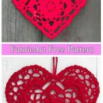 Crochet Heart Christmas Ornament Free Pattern
