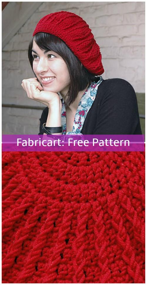 Crochet Phannie Sunburst Beret Hat Free Pattern