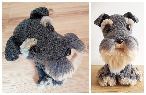 Crochet Schnauzer Dog Softie Amigurumi Free Pattern