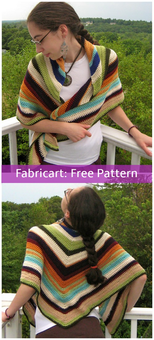 Crochet Scrap Yarn Shawl Free Pattern