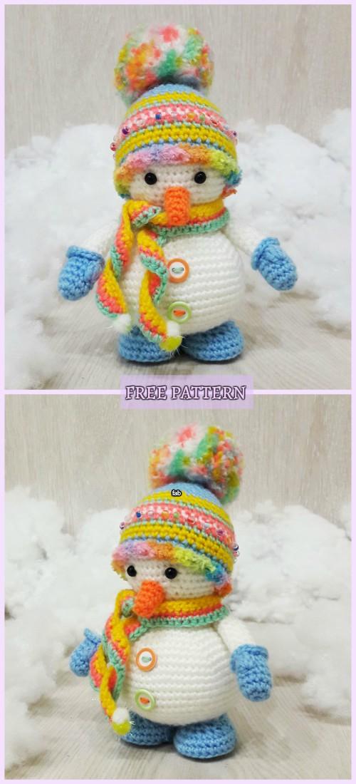 Crochet Snowman Amigurumi Free Pattern