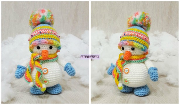 Amigurumi Snowman : Crochet snowman amigurumi free pattern