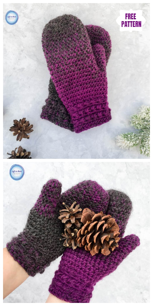 Crochet Star Gazer's Slipper Socks & Mittens Free Pattern