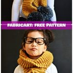DIY Easy Chunky Knit Pom Pom Scarf Free Pattern Tutorial