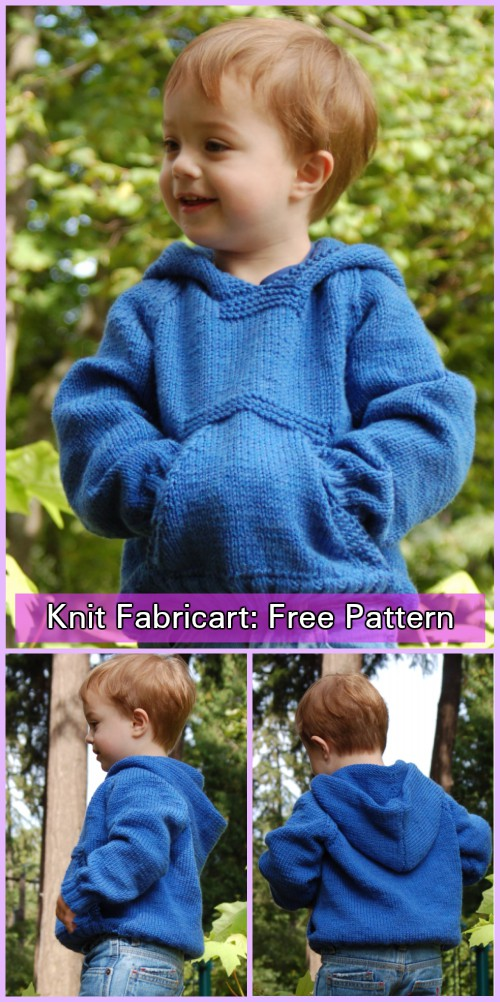 Knit Greenland Playtime Hoodie Sweater Free Knitting Pattern