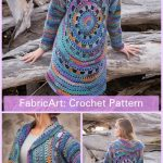 Crochet Harbor Lights Circle Jacket Crochet Pattern
