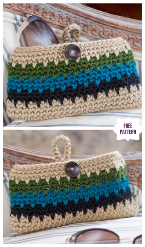 fabartdiy Crochet Leap Stitch Dynamite Eyeglass Case Free Crochet Pattern f1
