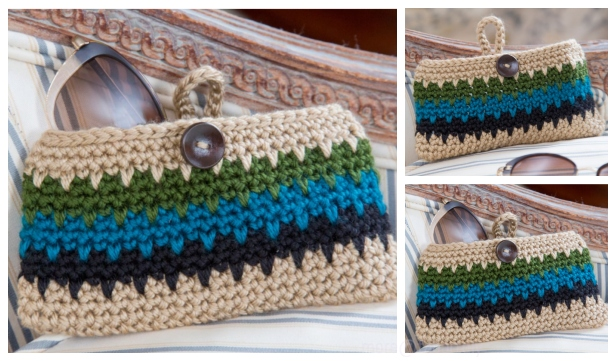 Crochet Leap Stitch Dynamite Eyeglass Case Free Crochet Pattern