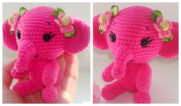 Elephant Amigurumi - Free Crochet Pattern • Craft Passion | 361x616