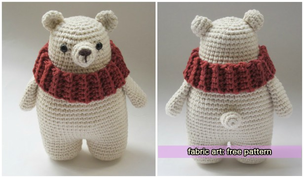 Crochet polar bear amigurumi free pattern dt1010fo