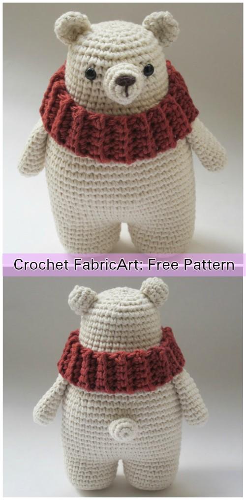 Crochet Polar Bear Amigurumi Free Pattern