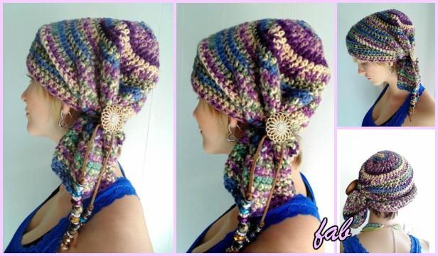 Crochet Sophie Scarf Hat Pattern