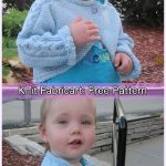 Knit Baby Hugs & Kisses Bolero Sweater Cardigan Free Knitting Pattern