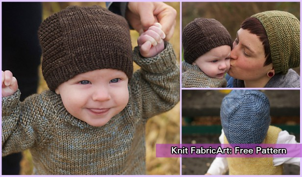 Knit Barley Beanie Hat Free Knitting Pattern