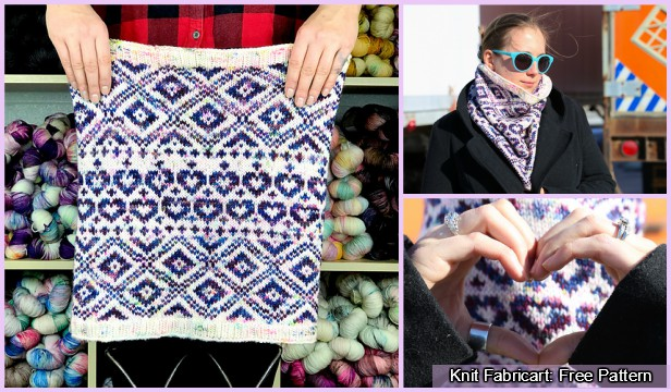 Knit Choose Love Cowl Free Knitting Pattern