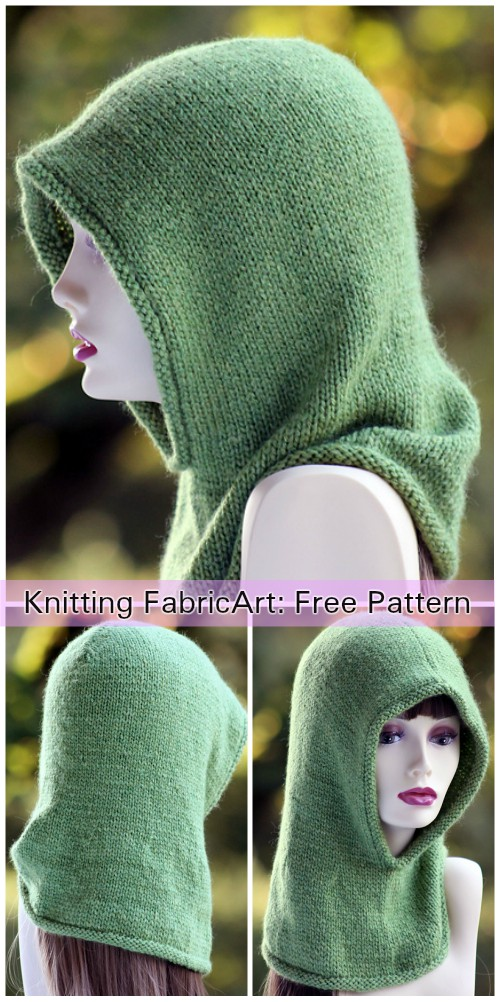 Knit Friend of the Forest Hood Free Knitting Pattern