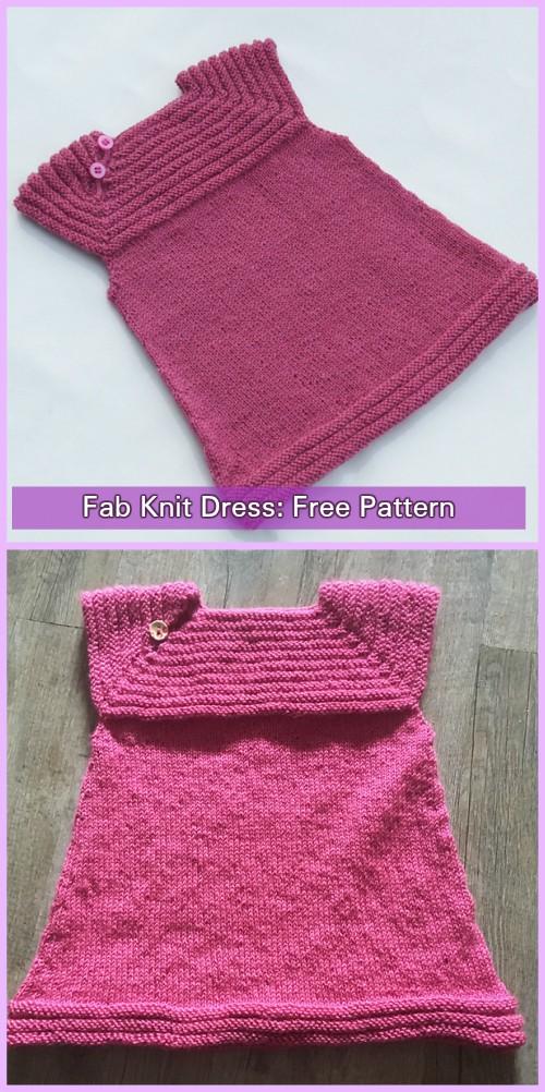 Knit Little Sister's Dress Free Pattern