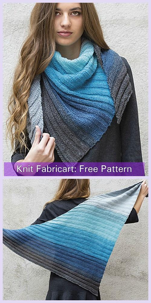 Knit Paint Scarf Shawl Free Knitting Pattern