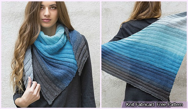 Knit Paint Scarf Shawl Free Knitting Pattern