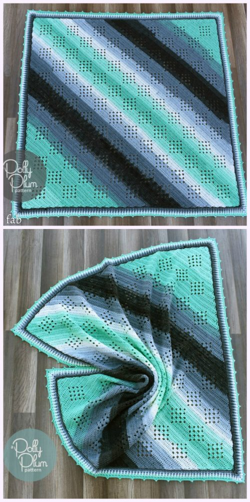 Crochet Granny in the Sky with Diamonds Blanket Pattern