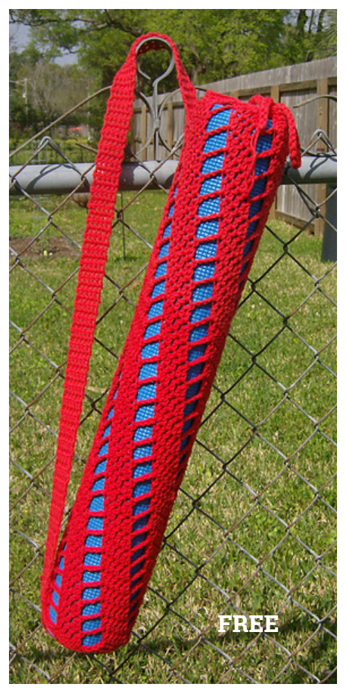 Spiral Ladder Yoga Bag Free Crochet Pattern
