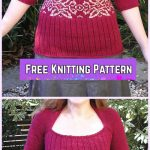 Knit Tubey Pullover Sweater Free Knitting Pattern