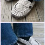 Modern Mens Loafers Slippers Crochet Pattern